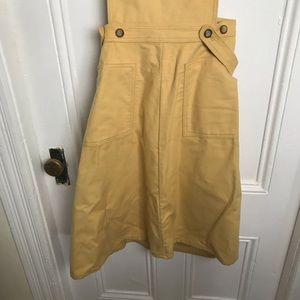 Woolrich Skirts - Vintage 70s Woolrich yellow cotton overall dress